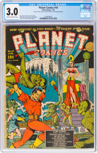 Planet Comics #10 (Fiction House, 1941) CGC GD/VG 3.0 Cream to off-white pages