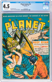 Planet Comics #19 (Fiction House, 1942) CGC VG+ 4.5 Off-white pages