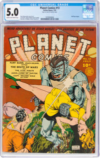 Planet Comics #13 (Fiction House, 1941) CGC VG/FN 5.0 Cream to off-white pages