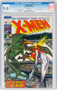 X-Men #61 (Marvel, 1969) CGC NM 9.4 White pages