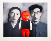 Zhang Xiaogang (b. 1958) Untitled, from Bloodline: Big Family, 2006 Lithograph in colors