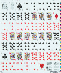Timothy Curtis (20th century) Bicycle Playing Cards, 2018 Ink jet in colors on paper 26-5/8 x 21-