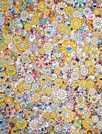 Takashi Murakami (b. 1962) MG 1950-2012, 2012 Offset lithograph in colors on paper 27 x 22-7/8 in