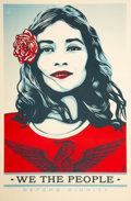 Fine Art - Work on Paper:Print, Shepard Fairey (b. 1970). We the People, set of three. Digital print in colors on paper. 36 x 24 inches (91.4 x 61 cm). ... (Total: 3 Items)