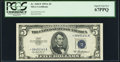 Small Size:Silver Certificates, Fr. 1656* $5 1953A Silver Certificate Star. PCGS Superb Gem New 67PPQ.. ...