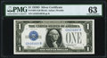 Small Size:Silver Certificates, Fr. 1604 $1 1928D Silver Certificate. G-B Block. PMG Choice Uncirculated 63.. ...
