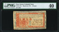 Colonial Notes:New Jersey, New Jersey March 25, 1776 £3 PMG Extremely Fine 40.. ...