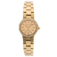 Baume & Mercier Lady's Diamond, Gold Riviera Watch