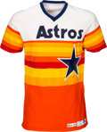 Baseball Collectibles:Uniforms, 1983 Terry Puhl Game Worn Houston Astros Jersey....