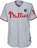 Baseball Collectibles:Uniforms, 2011 Roy Halladay Game Worn & Signed Philadelphia Phillies Jersey, MLB Authentic....