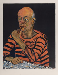 Alice Neel (1900-1984) Portrait of John Rothschild, 1980 Lithograph in colors on Arches paper 27-