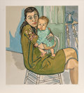 Prints:Contemporary, Alice Neel (1900-1984). Mother and Child (Nancy and Olivia), 1982. Lithograph in colors on Arches paper. 31 x 28 inches ...
