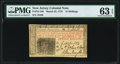 New Jersey March 25, 1776 15s PMG Choice Uncirculated 63 EPQ