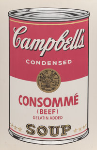 Andy Warhol (1928-1987) Campbell's Soup I (Consommé), 1968 Screenprint in colors on paper 35 x 22-7/8 inches (88...