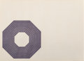 Fine Art - Work on Paper:Print, Frank Stella (b. 1936). Henry Garden, from Purple Series, 1972. Lithograph in colors on Zerkall Copperplate deluxe p...