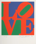 Prints:Contemporary, Robert Indiana (1928-2018). One Plate, from Book of Love, 1996. Screenprint in colors A.N.W. Crestwood Museum Editio...