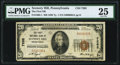 National Bank Notes:Pennsylvania, Scenery Hill, PA - $20 1929 Ty. 1 The First National Bank Ch. # 7262 PMG Very Fine 25.. ...