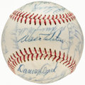 Autographs:Baseballs, 1966 Los Angeles Dodgers Team Signed Baseball - National League Champions (25 Signatures)....