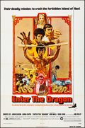 """Movie Posters:Action, Enter the Dragon (Warner Brothers, 1973). Folded, Fine/Very Fine. One Sheet (27"""" X 41""""). Bob Peak Artwork. Action.. ..."""