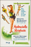 """Movie Posters:Foreign, Mademoiselle Striptease (DCA, 1957). Folded, Very Fine. One Sheet (27"""" X 41""""). Foreign.. ..."""