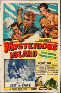 """Mysterious Island (Columbia, 1951). Folded, Fine-. One Sheet (27"""" X 41"""") Chapter 1 -- """"Lost in Space.&quo..."""