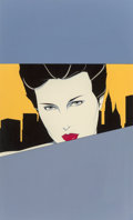 Fine Art - Painting, American, Patrick Nagel (American, 1945-1984). New York Art Expo advertisement preliminary, 1981. Acrylic on board. 28 x 17 inches...