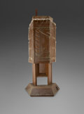 Furniture , Frank Lloyd Wright (American, 1867-1959). Fireplace from Price Tower, 1956. Copper, steel, wood. 93-1/2 x 45-1/2 x 15-1/...