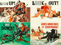 "Thunderball (United Artists, 1965). Folded, Very Fine+. Full-Bleed British Quad (30"" X 40"") Advance Quad Crown..."