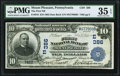 National Bank Notes:Pennsylvania, Mount Pleasant, PA - $10 1902 Date Back Fr. 616 The First National Bank Ch. # (E)386 PMG Choice Very Fine 35 EPQ.. ...
