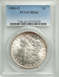 Morgan Dollars: , 1903-O $1 MS66 PCGS. PCGS Population: (785/103). NGC Census: (348/52). CDN: $750 Whsle. Bid for problem-free NGC/PCGS MS66....