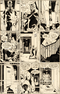 Dave Gibbons Watchmen #8 Story Page 19 Rorschach and Nite Owl Original Art (DC, 1987)