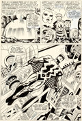 Original Comic Art:Panel Pages, Jack Kirby and Joe Sinnott Fantastic Four #59 Story Page 9 Black Bolt Original Art (Marvel, 1967)....