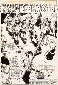 Gene Colan (as Adam Austin) and Bill Everett Tales to Astonish #79 Namor Splash Page 1 Origi