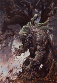 Bernie Wrightson - Swamp Thing Painting Original Art (1990s)