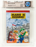 Video Games:Nintendo, Mario is Missing Wata 9.6 A+ Sealed (NES, Software Toolworks, 1993, USA)....