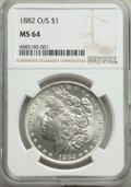 1882-O/S $1 Strong MS64 NGC. NGC Census: (187/5). PCGS Population: (244/2). CDN: $1,300 Whsle. Bid for problem-free NGC/...