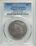 Bust Half Dollars, 1815/2 50C O-101a, R.3, -- Plugged, Damage -- PCGS Genuine. VF Details. NGC Census: (1/13). PCGS Population: (0/14). VF20. ...