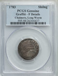 Colonials, 1783 SHILNG Chalmers Shilling, Long Worm -- Damage -- PCGS Genuine. Fine Details. PCGS Population: (1/41). NGC Census:...