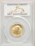 2016-W 25C Standing Liberty, Quarter-Ounce Gold, 100th Anniversary, SP70 PCGS. PCGS Population: (2963). NGC Census: (0)...