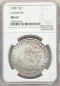 Commemorative Silver, 1900 $1 Lafayette Dollar MS64 NGC. DuVall 1-B....