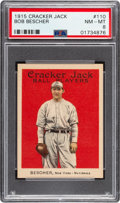 Baseball Cards:Singles (Pre-1930), 1915 Cracker Jack Bob Bescher #110 PSA NM-MT 8....