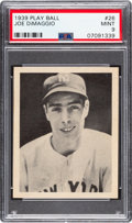 Baseball Cards:Singles (1930-1939), 1939 Play Ball Joe DiMaggio #26 PSA Mint 9 - None Higher. ...
