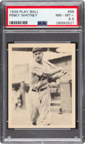Baseball Cards:Singles (1930-1939), 1939 Play Ball Pinky Whitney (All Caps) #98 PSA NM-MT+ 8.5 - Pop One, Only Two Higher. ...