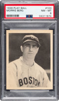 Baseball Cards:Singles (1930-1939), 1939 Play Ball Moe Berg (All Caps) #103 PSA NM-MT 8. ...