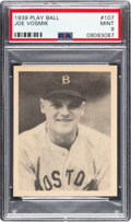 Baseball Cards:Singles (1930-1939), 1939 Play Ball Joe Vosmik (All Caps) #107 PSA Mint 9 - Pop Two, None Higher. ...