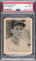 Baseball Cards:Singles (1930-1939), 1939 Play Ball Ray Berres #156 PSA NM-MT 8 - Only One Higher. ...
