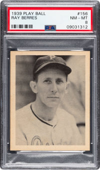 1939 Play Ball Ray Berres #156 PSA NM-MT 8 - Only One Higher