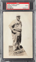 Baseball Cards:Singles (1930-1939), 1933 Worch Cigar Rogers Hornsby PSA EX 5 - Pop One, None Higher! ...