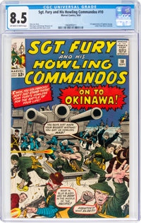 Sgt. Fury and His Howling Commandos #10 (Marvel, 1964) CGC VF+ 8.5 Off-white to white pages