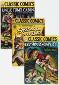 Golden Age (1938-1955):Classics Illustrated, Classic Comics #9, 15, and 33 First Editions Group (Gilberton, 1943-47) Condition: Average GD.... (Total: 3 Comic Books)